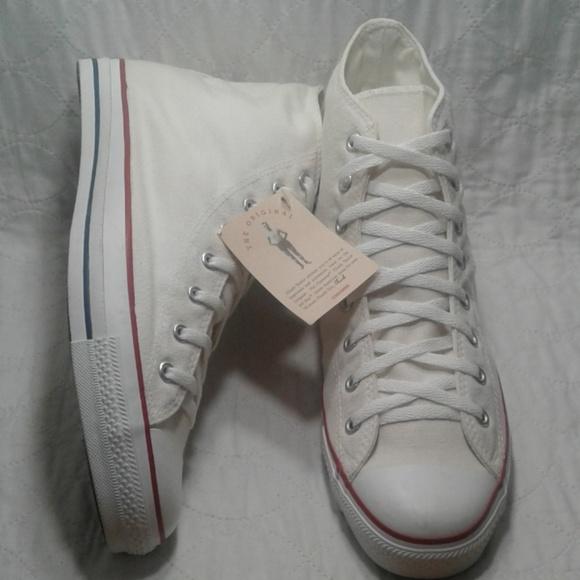 68f5e10a9e25 CONVERSE vintage hi top all star new white sz 14